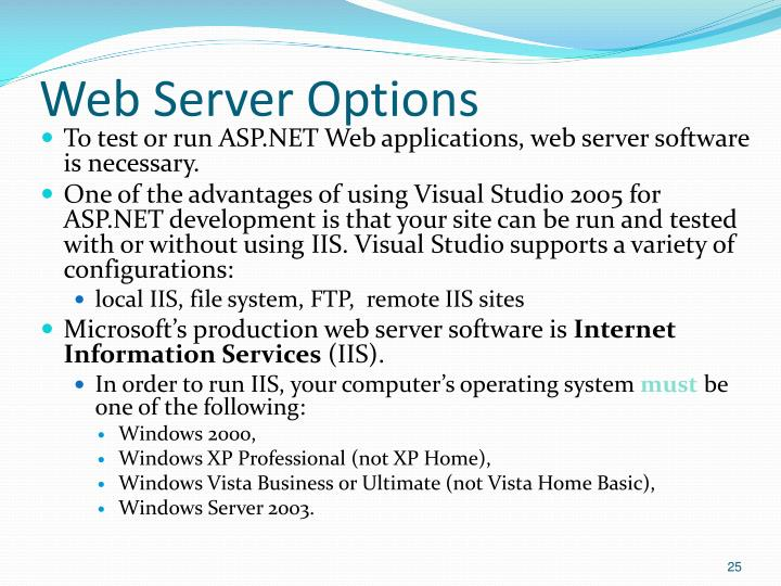 Web Server Options
