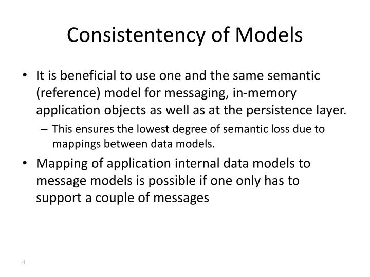 Consistentency of Models