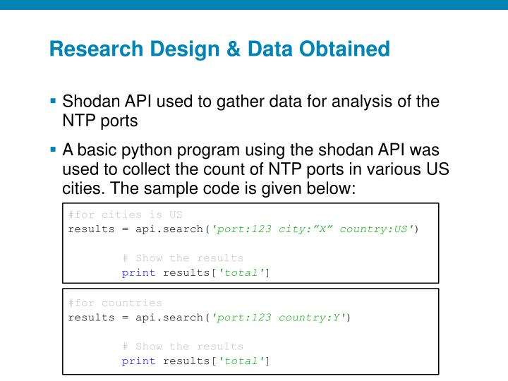 Research Design & Data