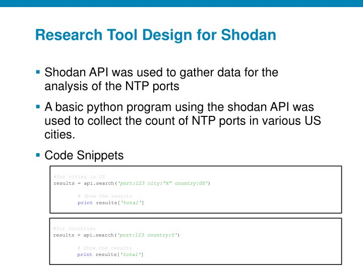 Research Tool Design for
