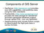 components of gis server