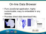 on line data browser
