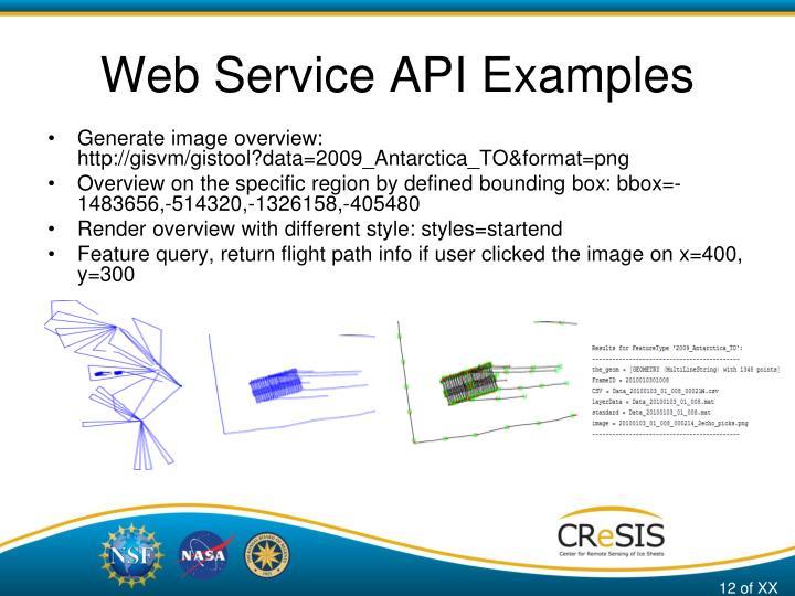 Web Service API Examples