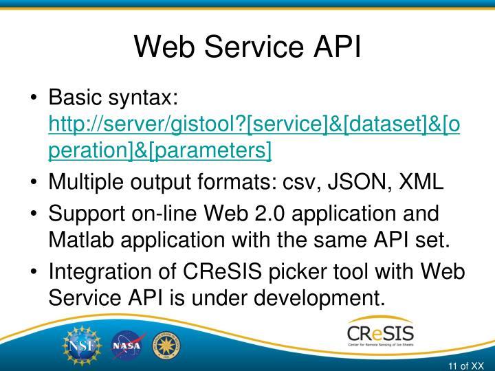 Web Service API