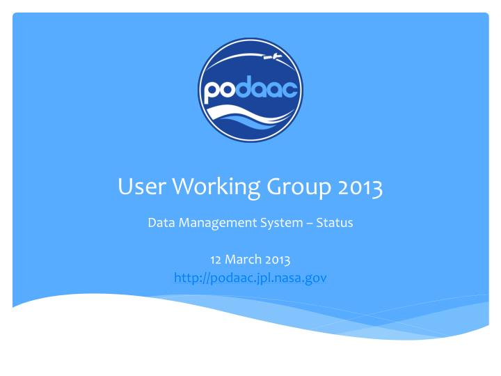 User working group 2013