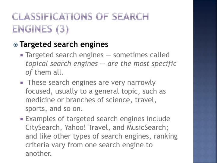 Classifications of Search Engines (3)