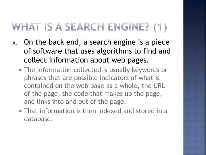 What Is a Search Engine? (1)