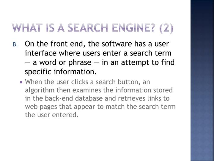 What Is a Search Engine? (2)