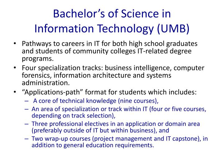 Bachelor's of Science in