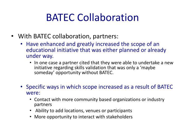 BATEC Collaboration