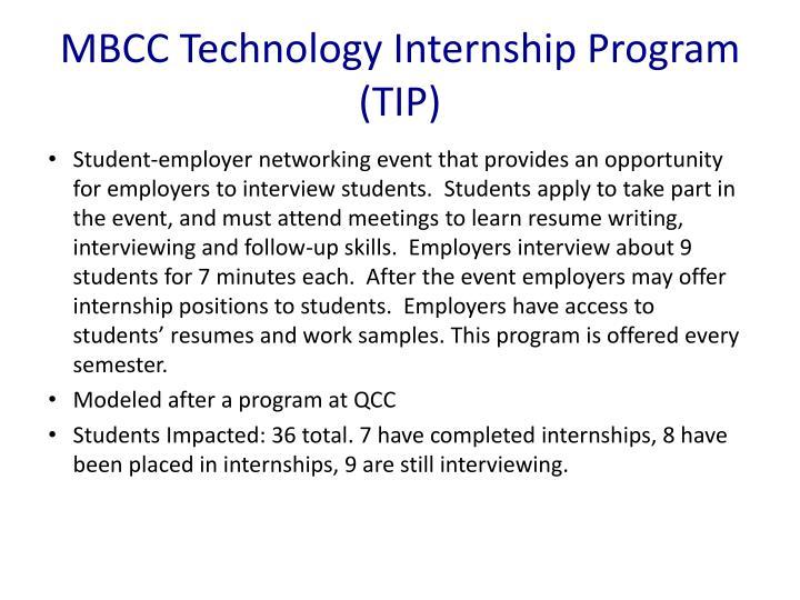 MBCC Technology Internship Program (TIP)