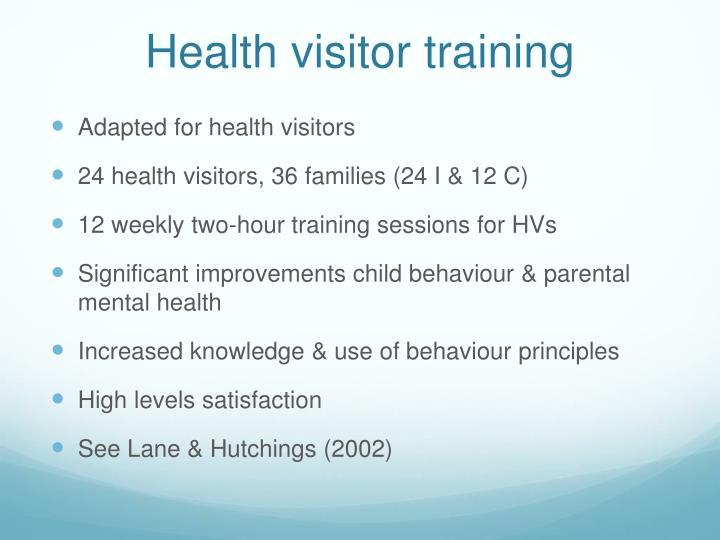 Health visitor training