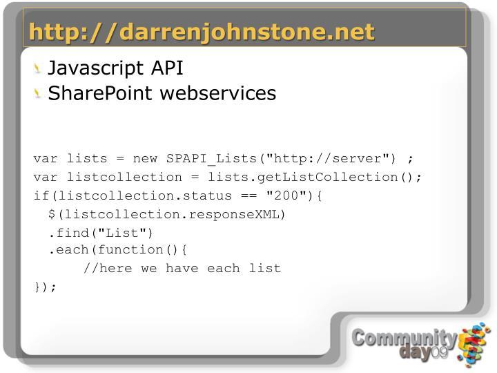 http://darrenjohnstone.net