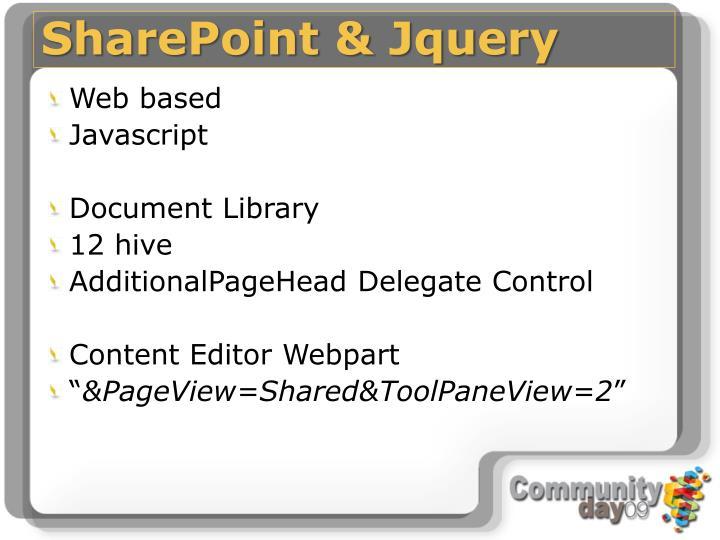 SharePoint & Jquery