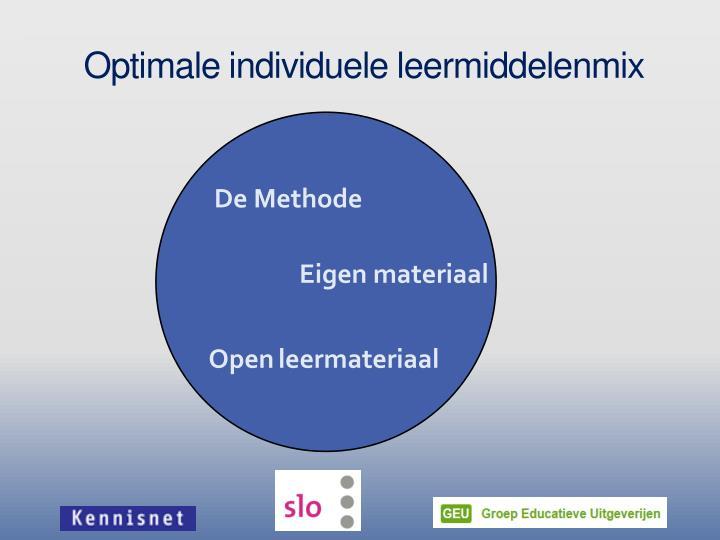 Optimale individuele leermiddelenmix