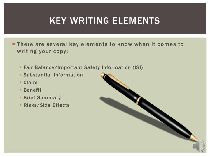Key Writing Elements