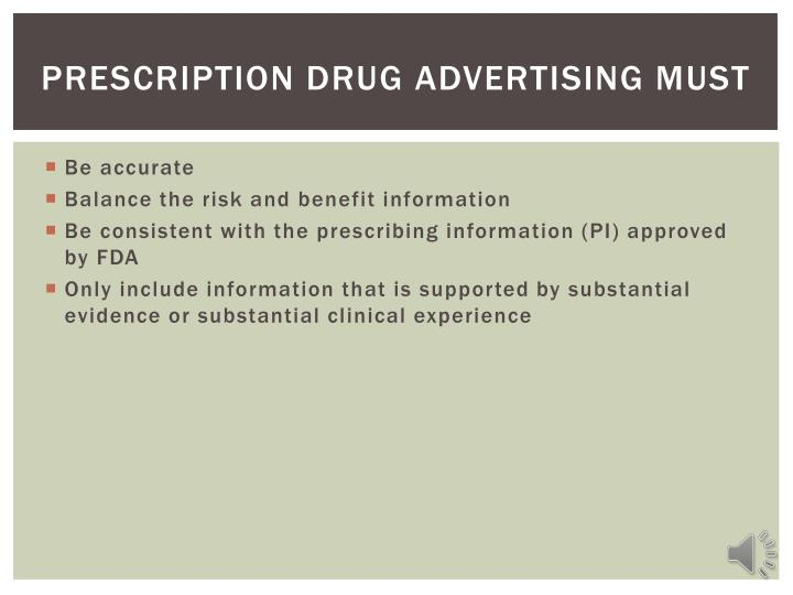 Prescription Drug advertising