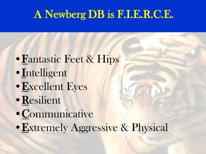 A Newberg DB is F.I.E.R.C.E.