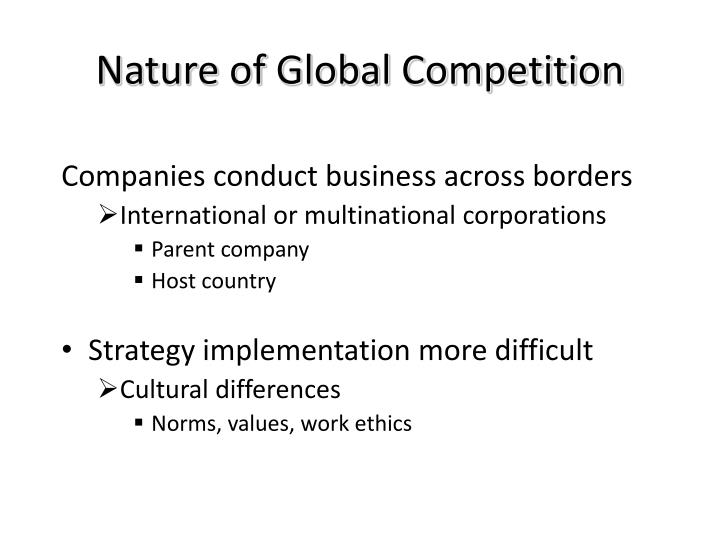 Nature of Global Competition