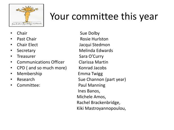 Your committee this year