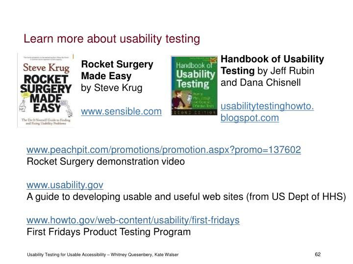 Learn more about usability testing
