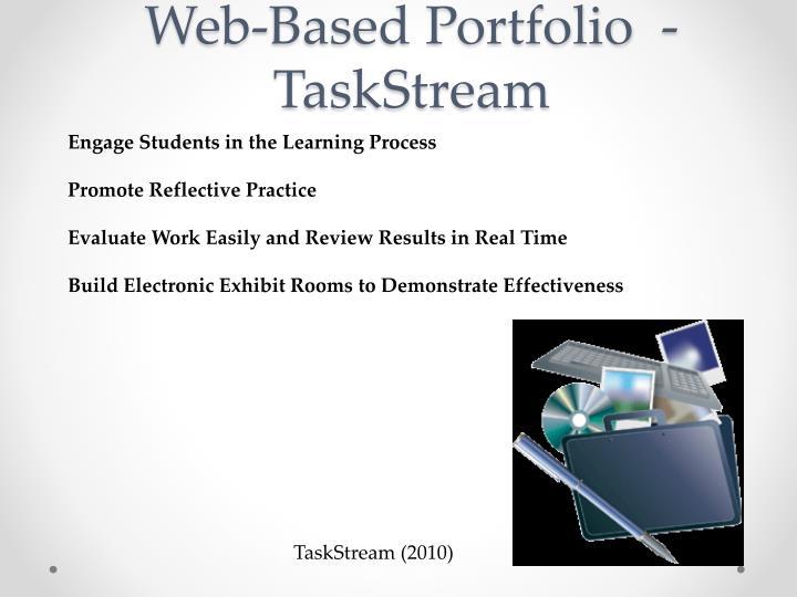 Web-Based Portfolio  -  TaskStream