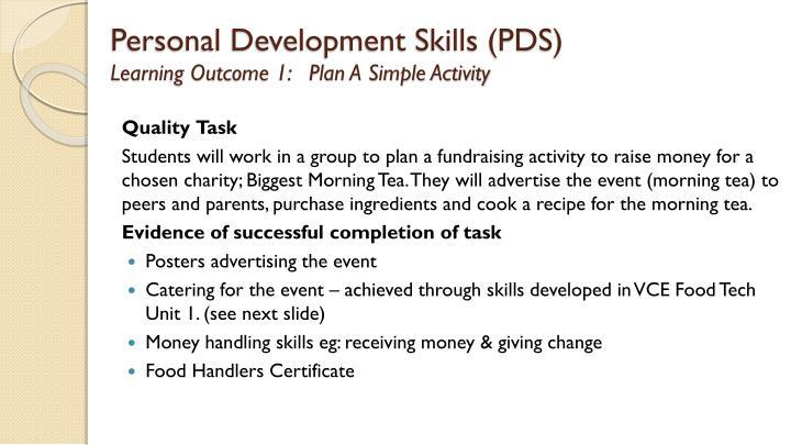 Personal Development Skills (PDS)