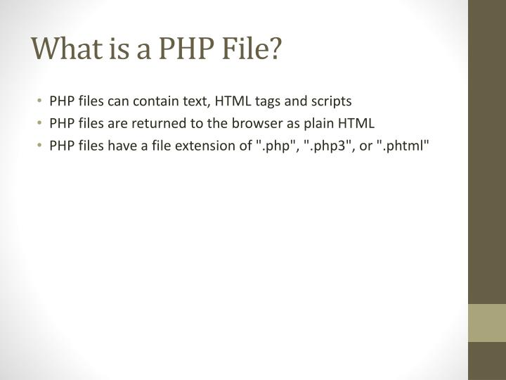 What is a PHP File