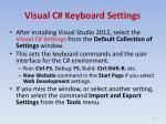 visual c keyboard settings