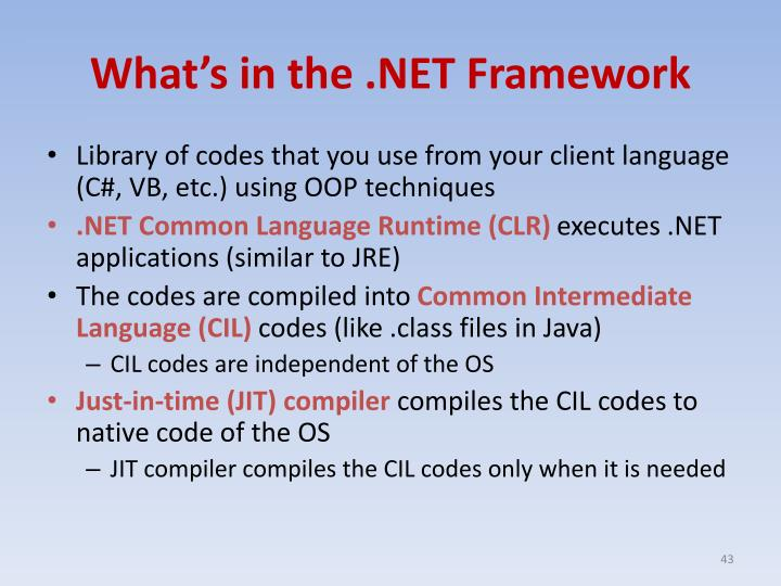 What's in the .NET Framework