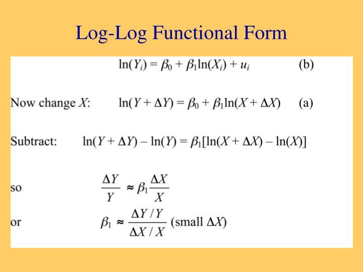 Log-Log Functional Form