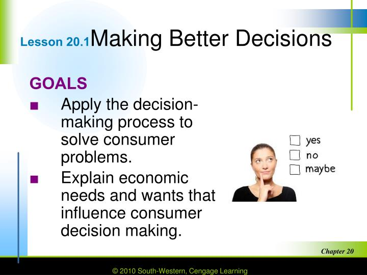 Lesson 20 1 making better decisions