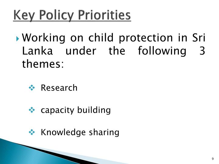 Key Policy Priorities