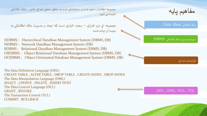 مجموعه اطلاعات ذخيره شده و سازماندهي شده به منظور تحقق اهدافي خاص ، بانک اطلاعاتي ناميده مي شود.
