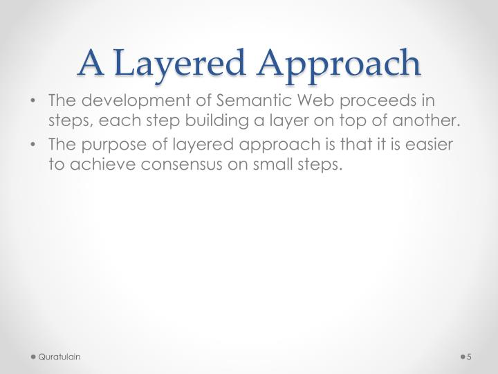A Layered Approach
