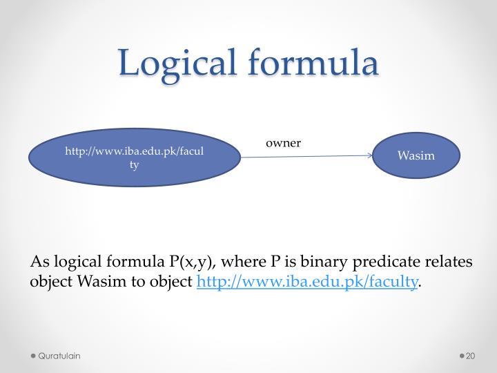 Logical formula