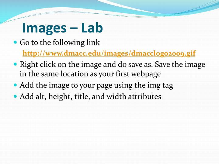Images – Lab