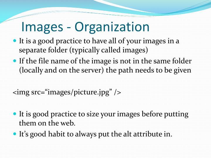 Images - Organization