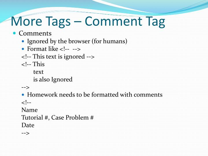 More Tags – Comment Tag