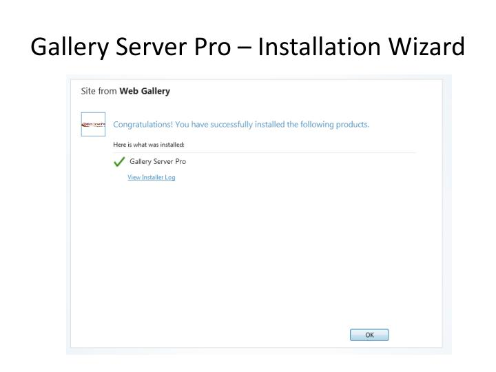 Gallery Server Pro – Installation Wizard