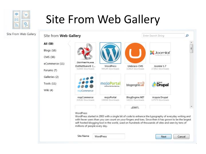 Site From Web Gallery