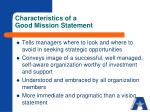 characteristics of a good mission statement1