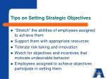tips on setting strategic objectives