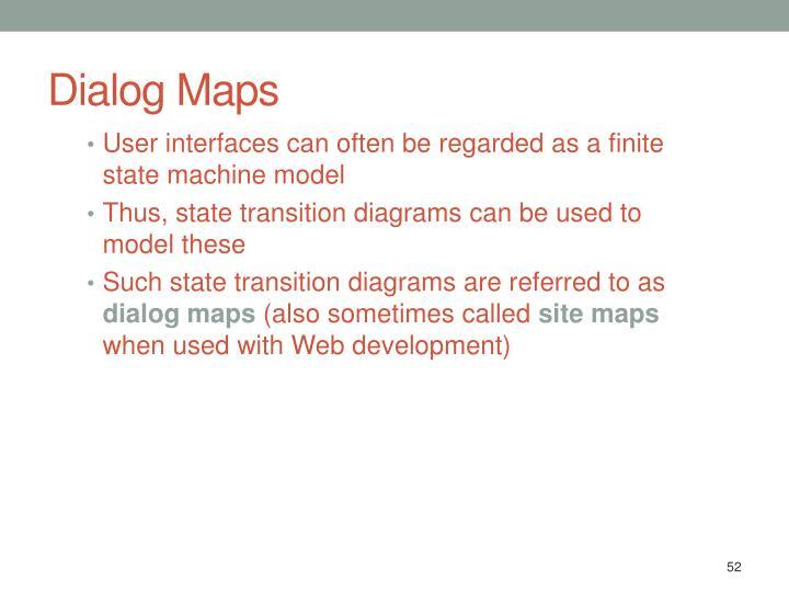 Dialog Maps