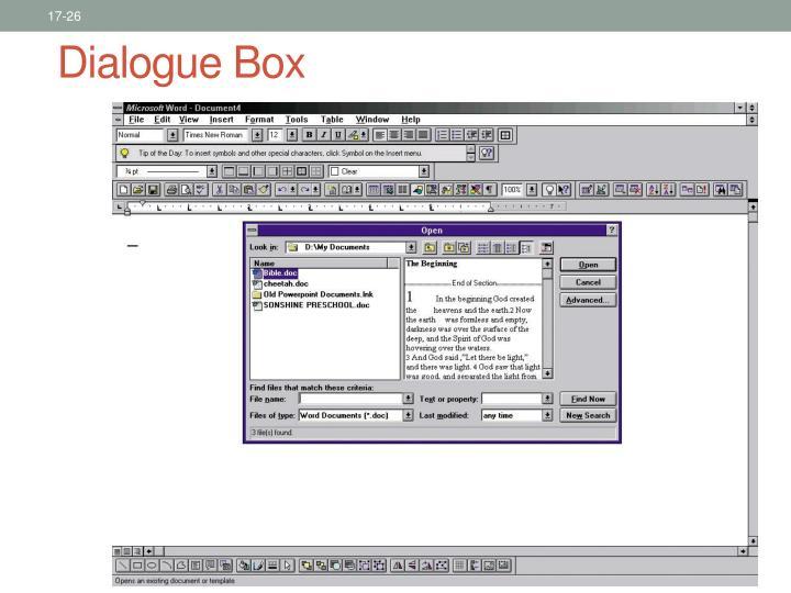 Dialogue Box