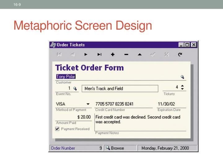Metaphoric Screen Design