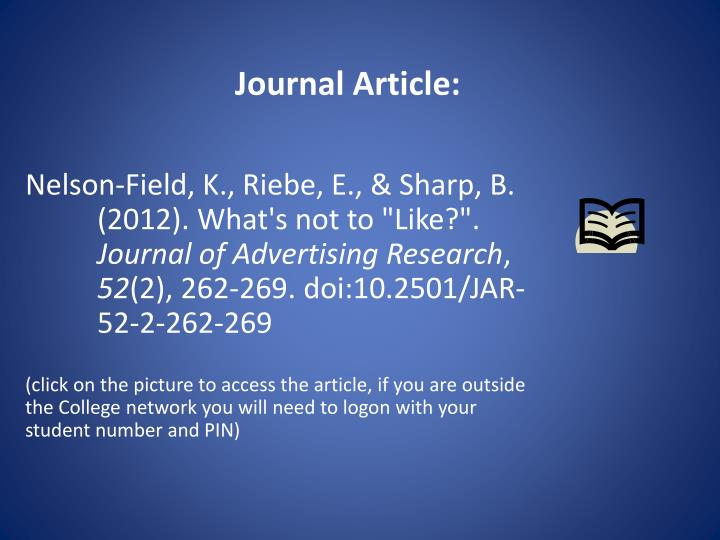 Journal Article: