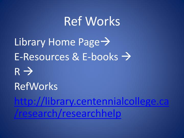 Ref Works