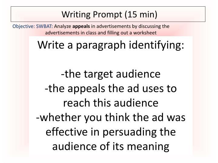 Writing Prompt (15 min)