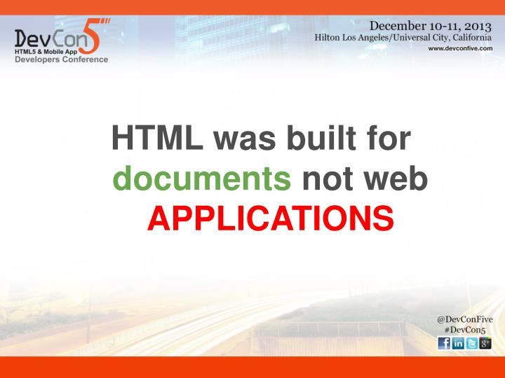 HTML was built for